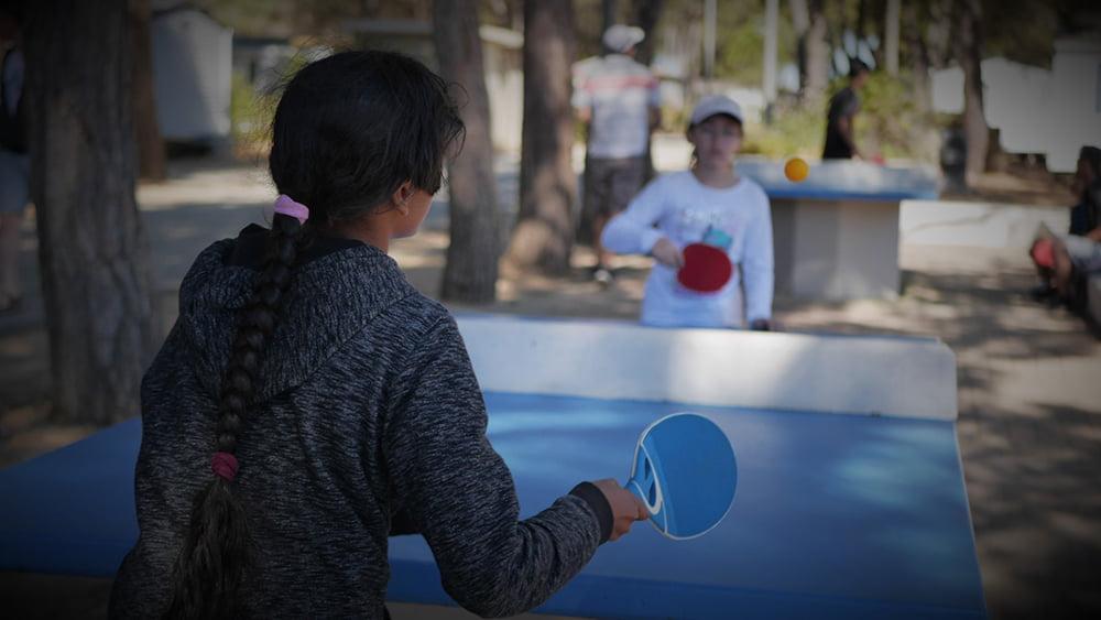 Tables de ping-pong du Camping Le Bellevue